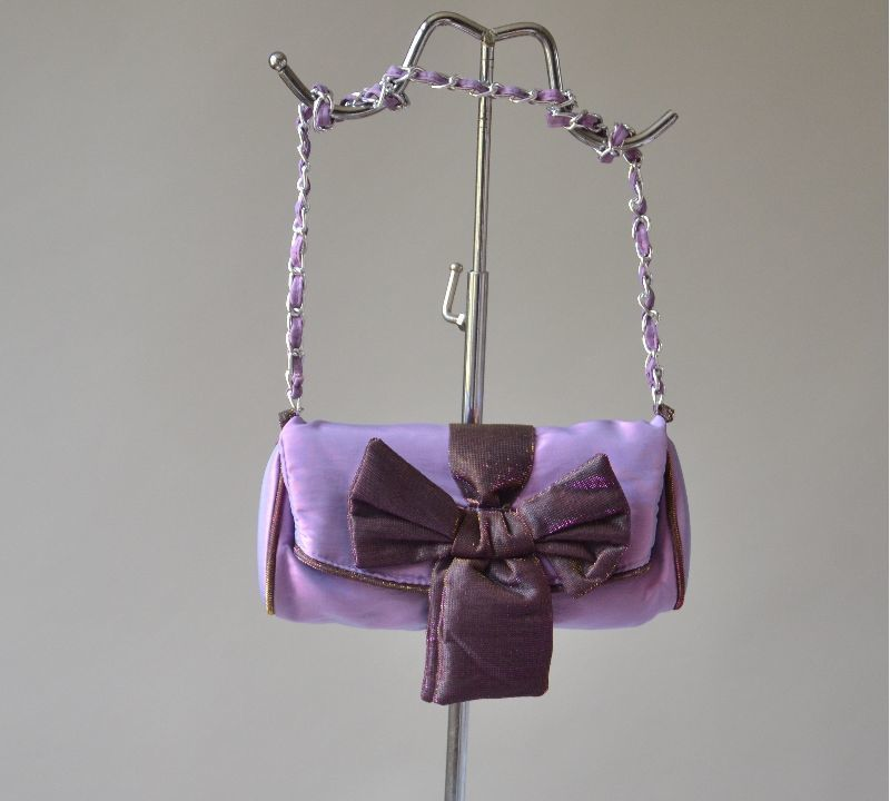 Wedding, evening bag/clutch - lilac and shining purple