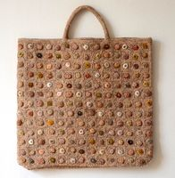 Grand tote bag Sophie Digard - biscuit pop minus