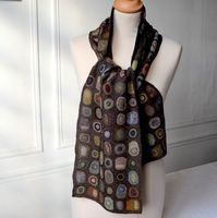 "Sophie Digard - large merino wool scarf - ""precious"""