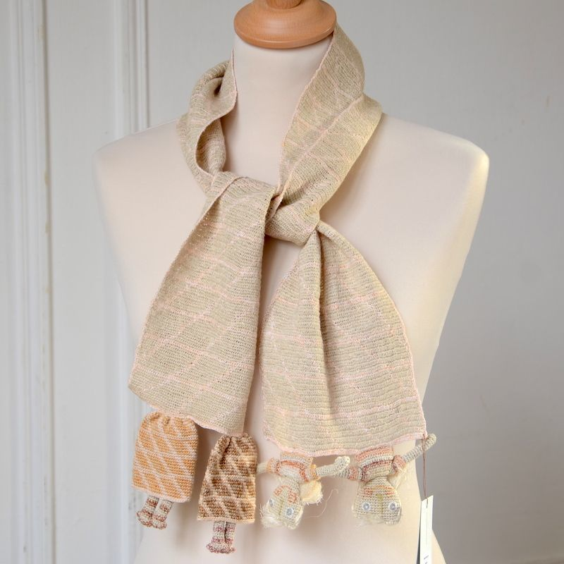 Sophie Digard - long hand crocheted linen scarf