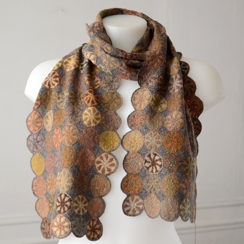 Long Sophie Digard scarf - merino wool - hand crocheted