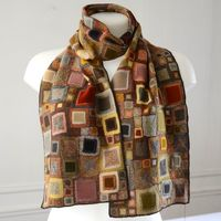 New Sophie Digard scarf - merino wool - a mix of bright and soft colours