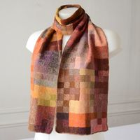 Scarf Sophie Digard - fire colours - mixed merino wool yarn - articraft