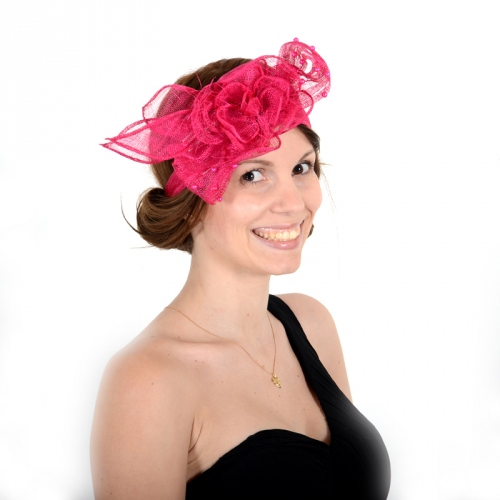 Headband sinamay and pearls : 8 COLOURS!