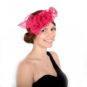 Headband sinamay and pearls : 7 COLOURS!