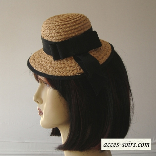 Mini hat natural straw