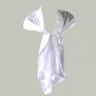 White stole/shawl silk and satin