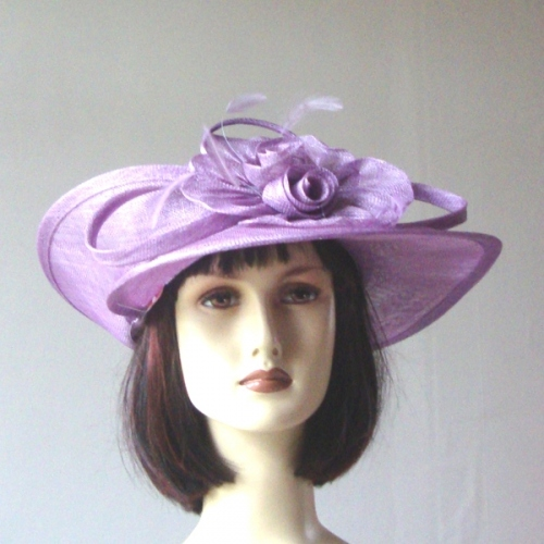 Asymetrical lilac wedding hat