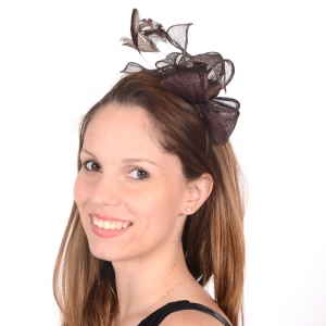 Headband sinamay and satin for weddings or evenings - 16 colours