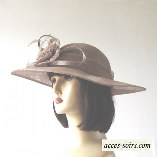 Sinamay wedding hat - light brown