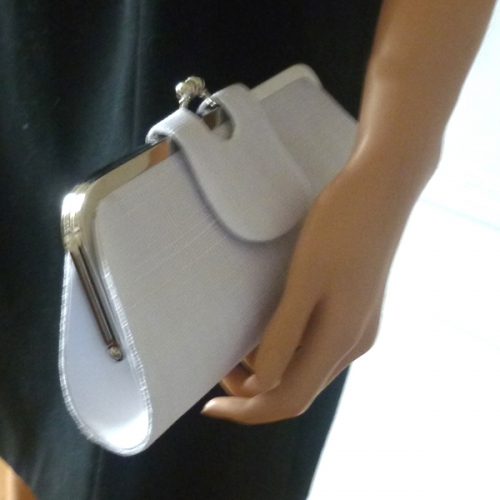Clic-clac sinamay clutch : 2 colours - navy or orange