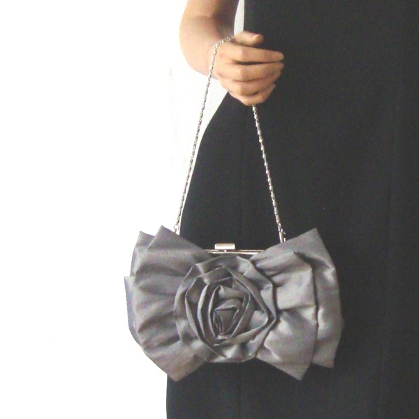 Evening clutch with blooming flower