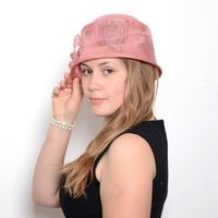 Sinamay cloche hat - 2 colours : grey or turquoise - pink out of stock