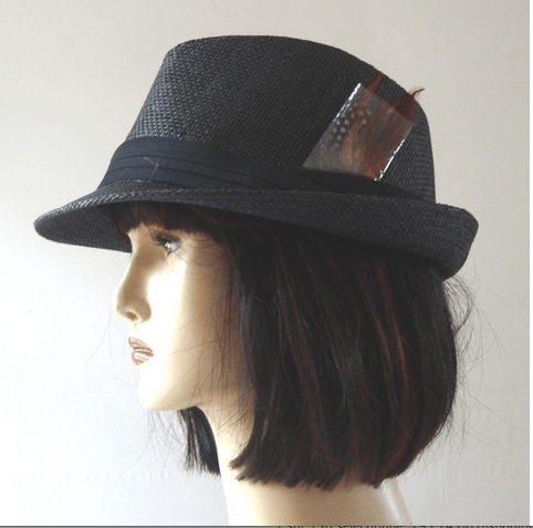 Small trilby hat with pheasant feathers