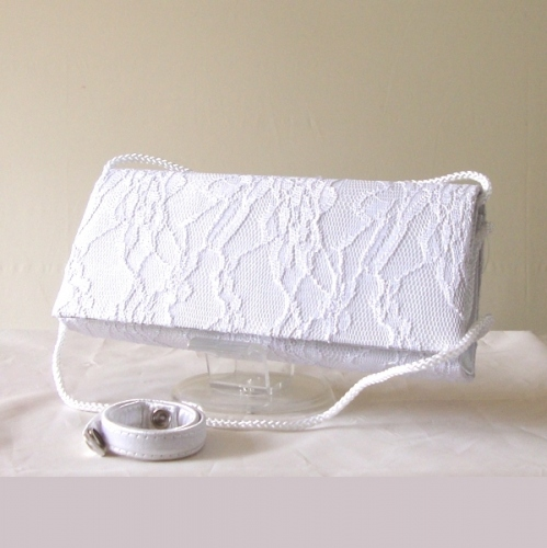 Evening bag with laces