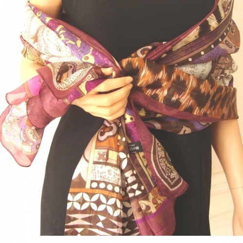 """Pure silk stole """"Nomade"""""""
