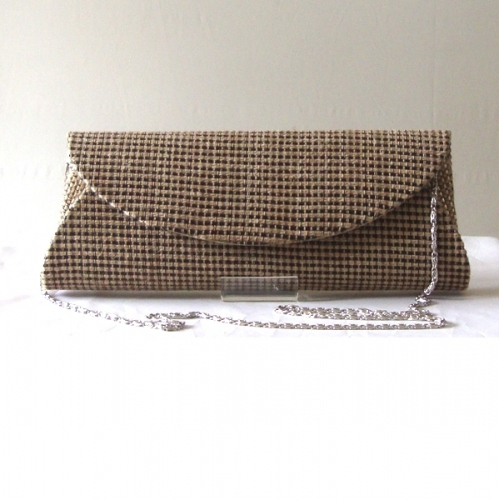 Evening, wedding clutch - long with raffia