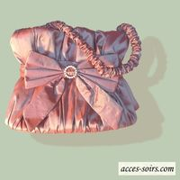 Taffeta lilac wedding evening bag