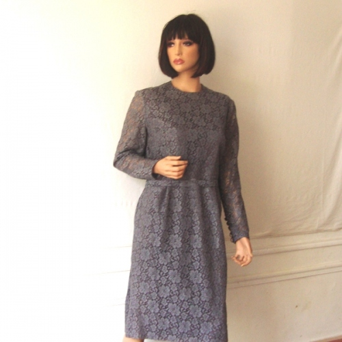 Vintage 2nd hand middle grey laces dress