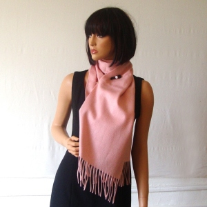 Light pink cashmere scarf - 100 % cashmere