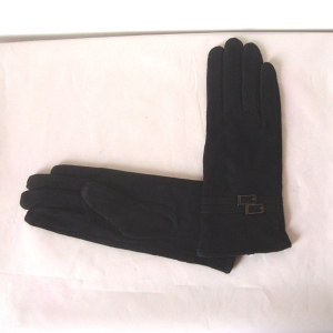 Black skin gloves