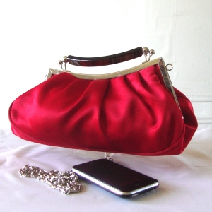 Red vintage evening bag