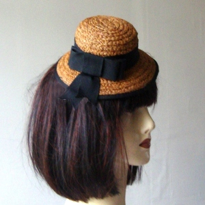 Mini middle brown straw hat