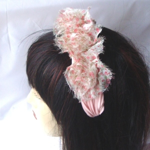 Large liberty headband with light pink flowers