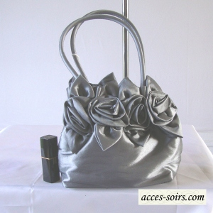 Evening bag aumoniere taffetas - 2 COLOURS!