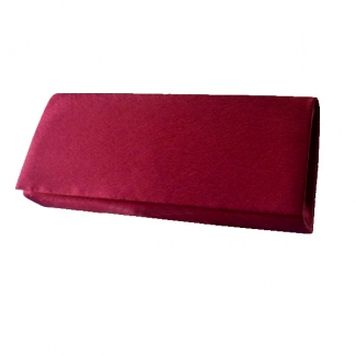 Burgundy satin bag