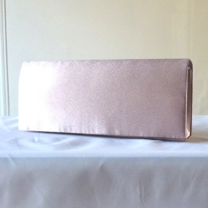 Classical powder rose (dust pink) clutch