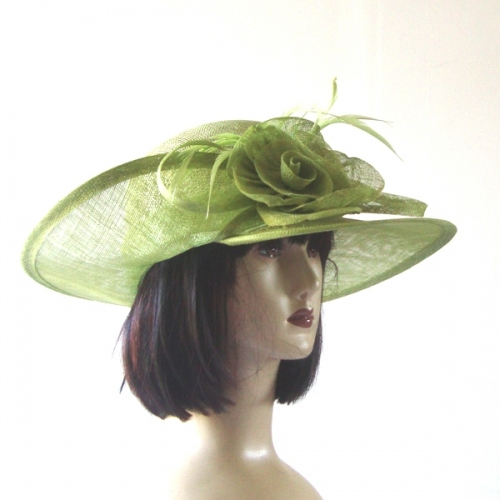 Asymetric sinamay wedding hat : 9 colours
