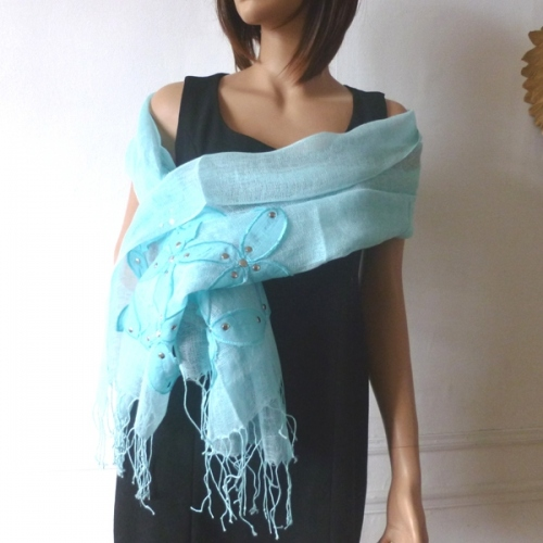 Lovely linen wedding, evening stole - 3 COLOURS!