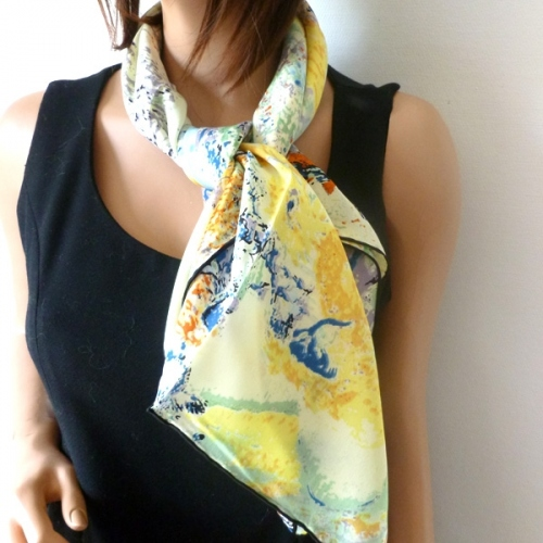 "Silk foulard ""dreams"""