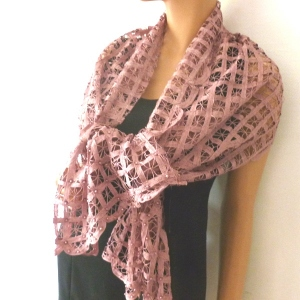 Stole silk and cotton (pink out of stock)