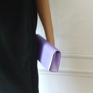 Parma, mauve evening bag - can be matched with the suggested stole
