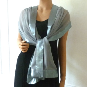 Middle grey wedding shawl/stole