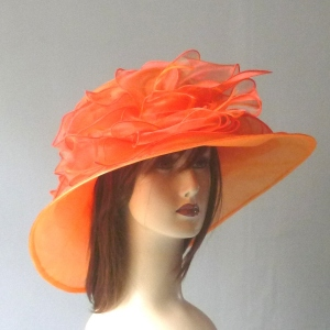 Wedding hat polyester satin