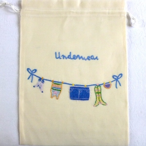 Underwear laundry bag for travels