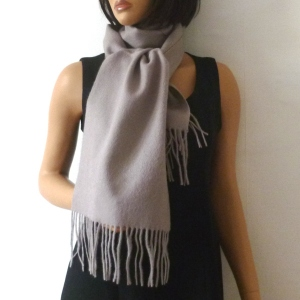 """Scarf """"pretty"""" plain cashmere and wool"""