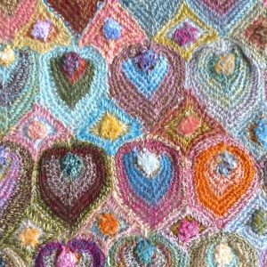 "Sophie Digard's creations - hand made crocheted scarf ""jules"" - many colours"