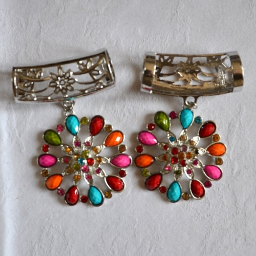 Jewel - Brooch - Stole flower clip