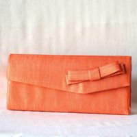 Wedding, evening bag, sinamay and satin : 3 colours : orange out of stock!