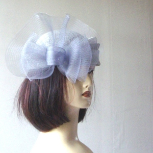 Wedding hat brimless sinamay and mesh