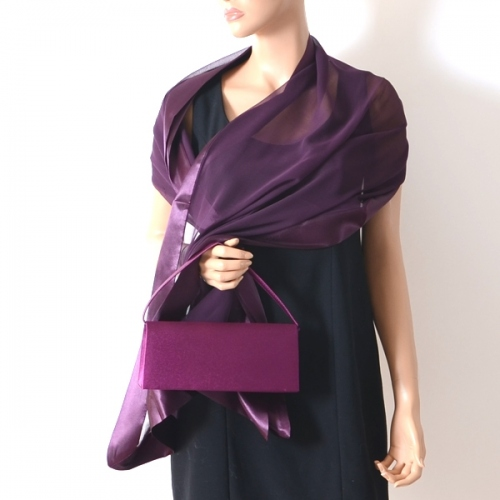 Matching accessories for weddings, evenings : evening bag and stole