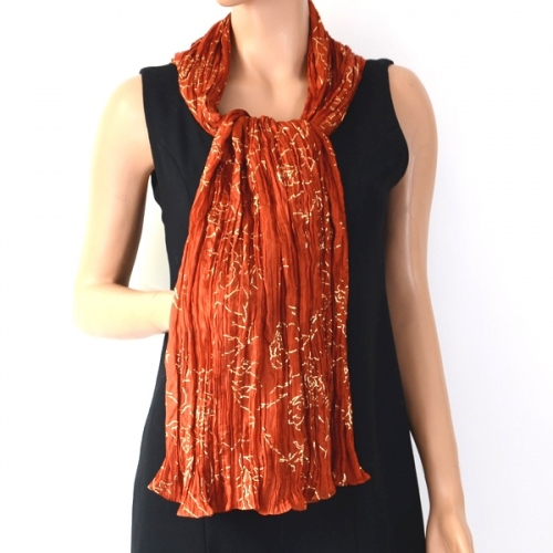 Dark orange and gold silk stole