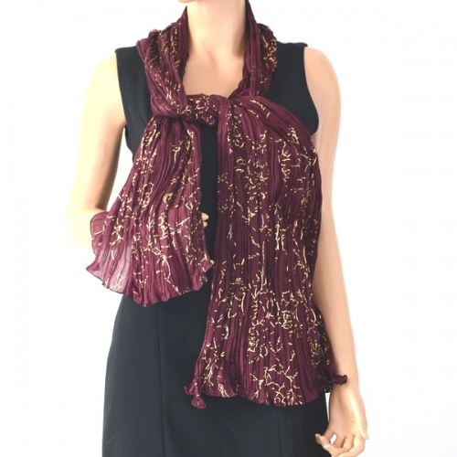 Plum and gold silk wedding stole