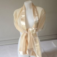 "Silk and satin stole ""champagne"""