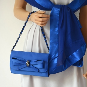 Royal blue evening clutch