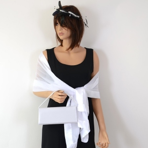 3 in 1! Black and white wedding accessories